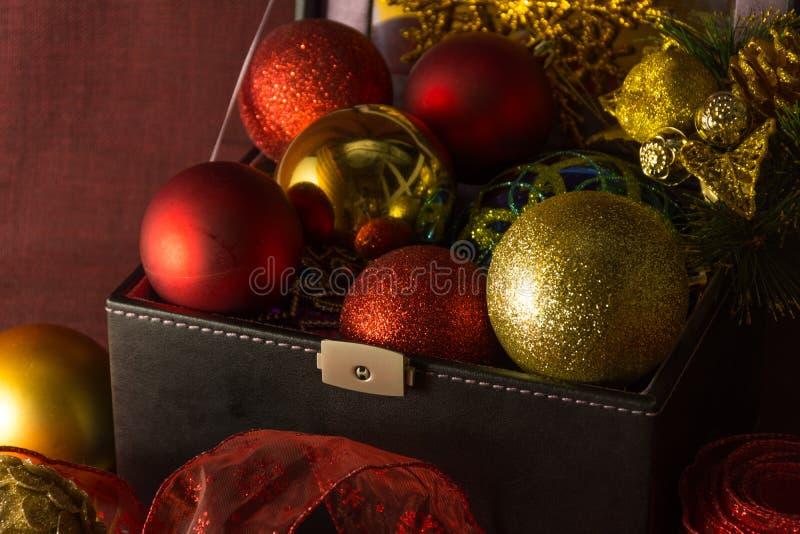 Uitstekende Kerstmissamenstelling royalty-vrije stock fotografie