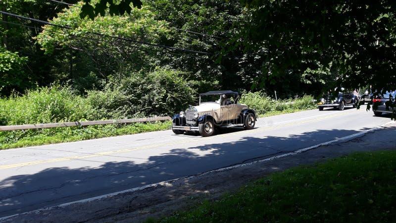 uitstekende klaar op de weg opnieuw in 4 van juli stock afbeelding