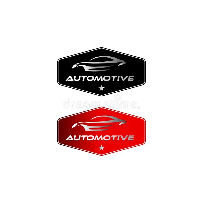 Uitstekende/klassieke automobielembleemontwerpen met het kenteken vector illustratie