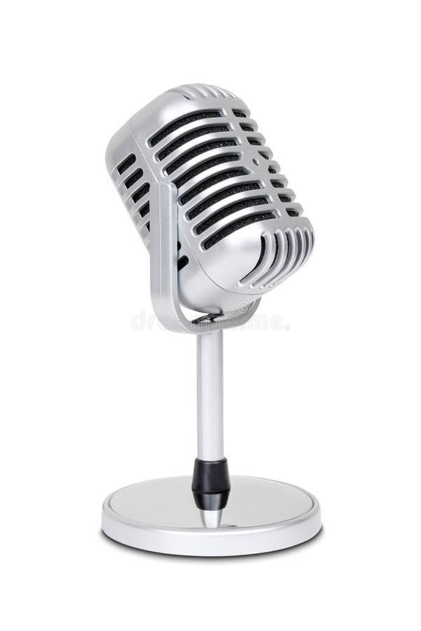 Uitstekende klassieke microfoon stock fotografie