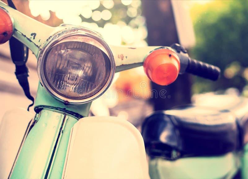 Uitstekende klassieke motorfiets stock afbeelding