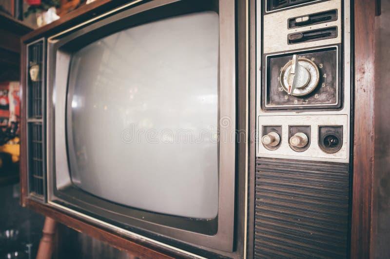 Uitstekende klassieke retro televisie royalty-vrije stock afbeeldingen