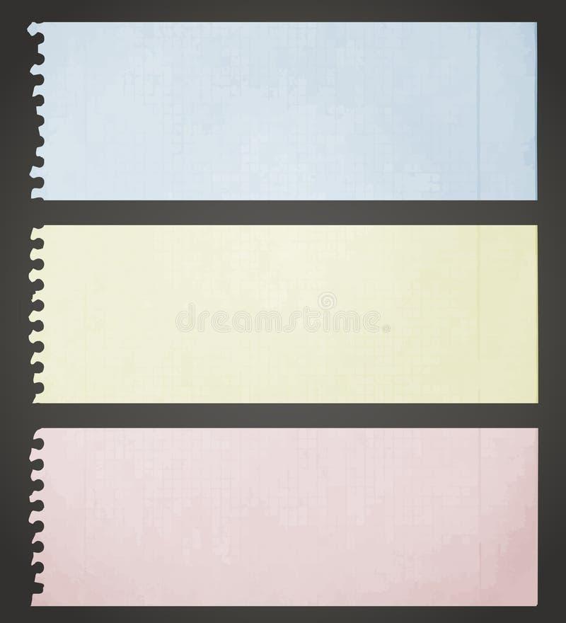 Uitstekende kleurendocumenten stock illustratie