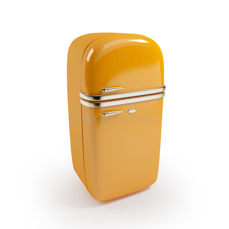 Uitstekende koelkast stock illustratie