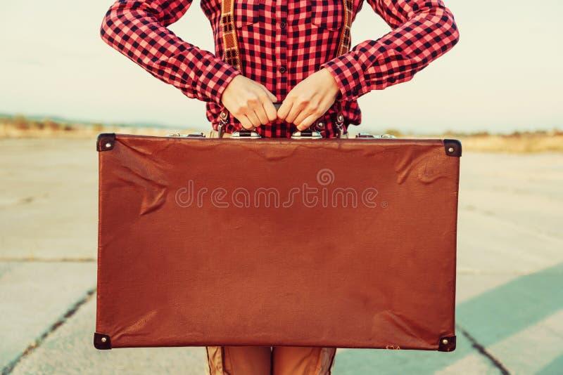Uitstekende koffer, exemplaar-ruimte stock foto's