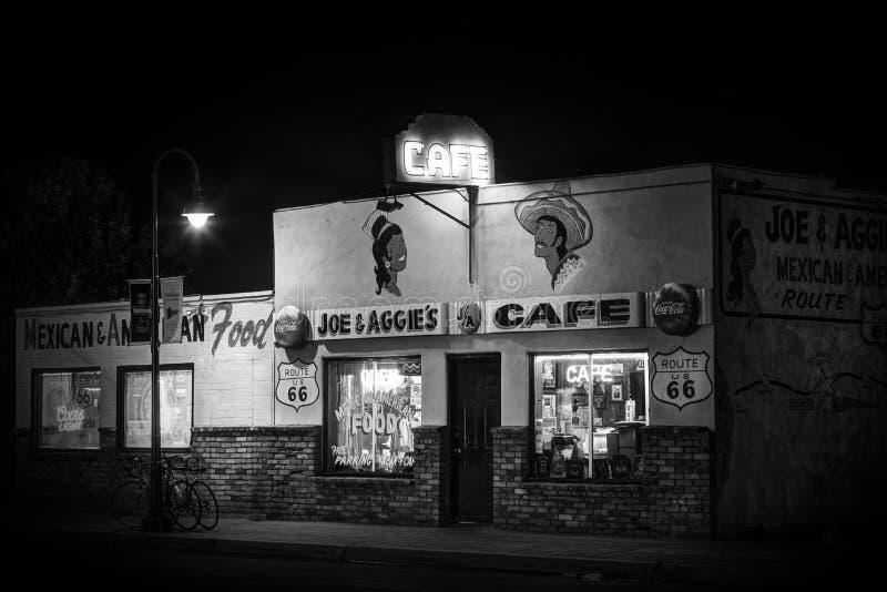Uitstekende Koffie op Route 66 in Holbrook, Arizona de V.S. royalty-vrije stock afbeeldingen