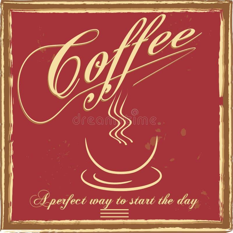 Uitstekende koffieaffiche vector illustratie