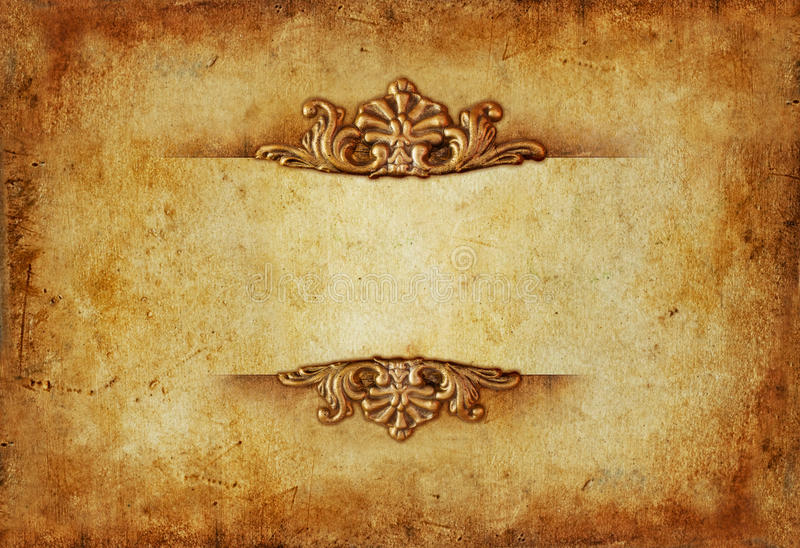 Uitstekende koninklijke gouden horizontale achtergrond met bloemenornamenten royalty-vrije stock foto's