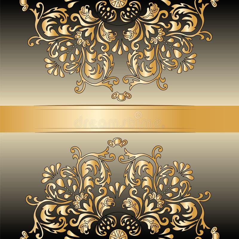 Uitstekende Koninklijke klassieke ornamentgrens royalty-vrije illustratie