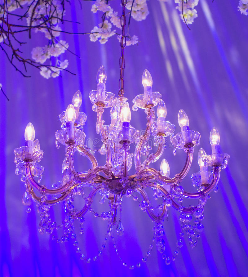 Uitstekende kristallamp royalty-vrije stock foto's
