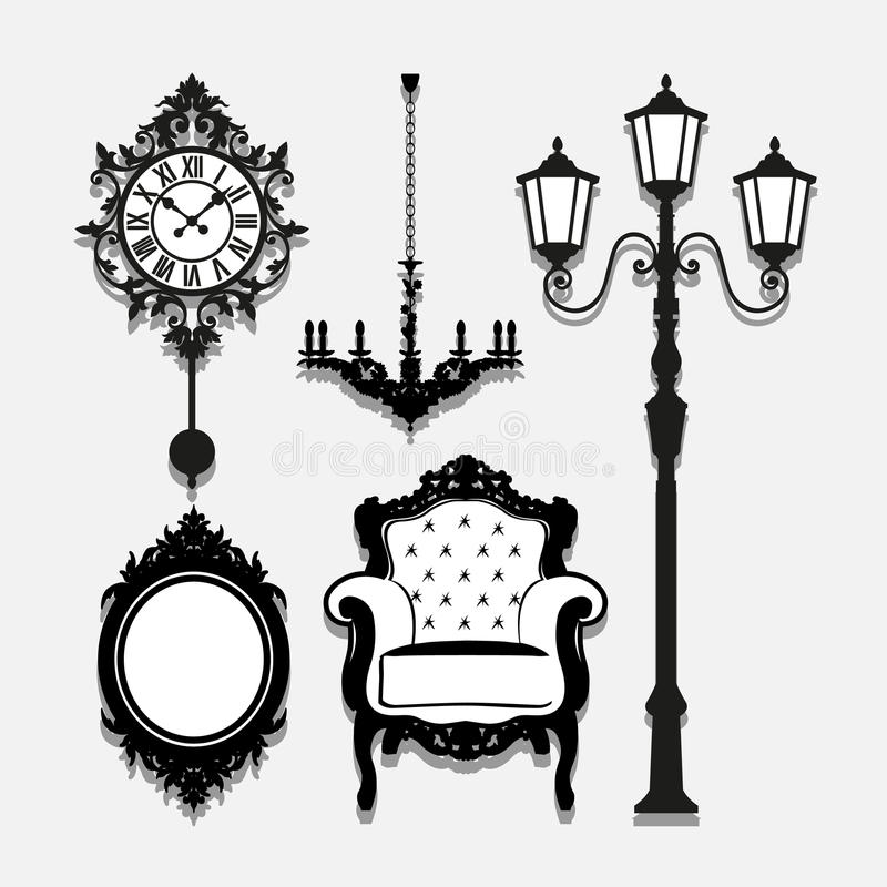 Uitstekende Lamppictogrammen geplaatst voor om het even welk gebruik groot Vector eps10 vector illustratie