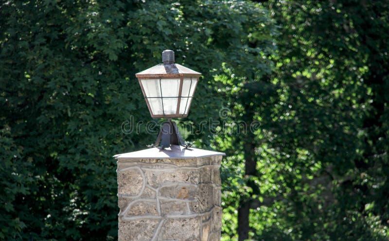 Uitstekende lantaarnlamp stock foto