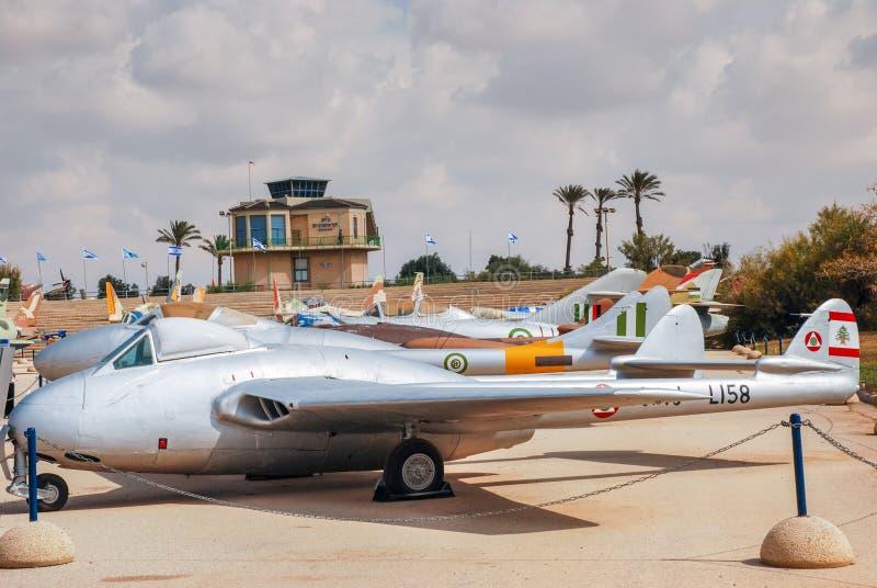 Uitstekende Libanese Luchtmacht De Havilland DH 100 Vampier FB52 stock foto's