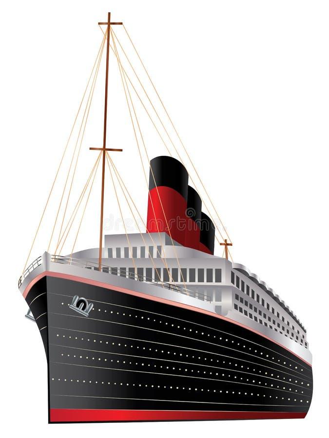 Uitstekende Lijnboot royalty-vrije illustratie