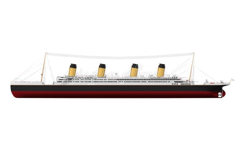 Uitstekende Lijnboot vector illustratie