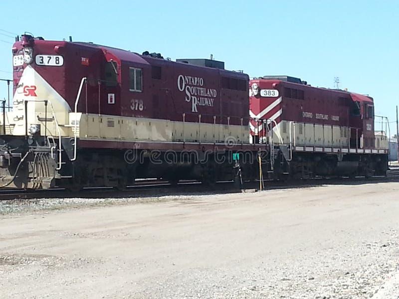 Uitstekende locomotieven stock foto's