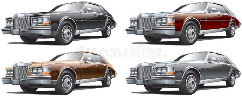 Uitstekende luxueuze auto vector illustratie