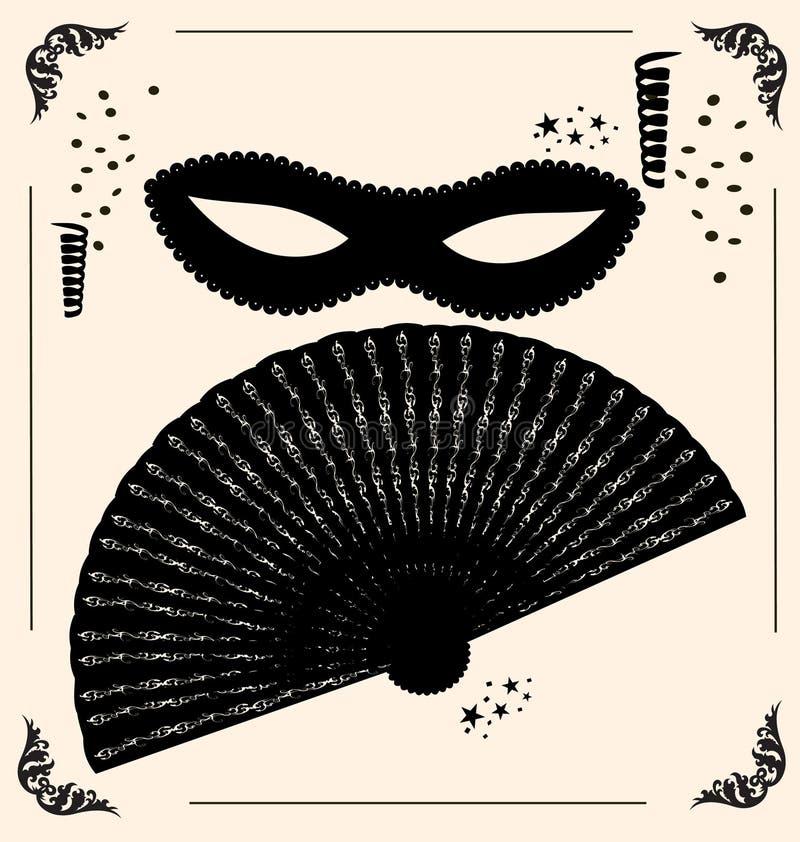 uitstekende masker en ventilator vector illustratie