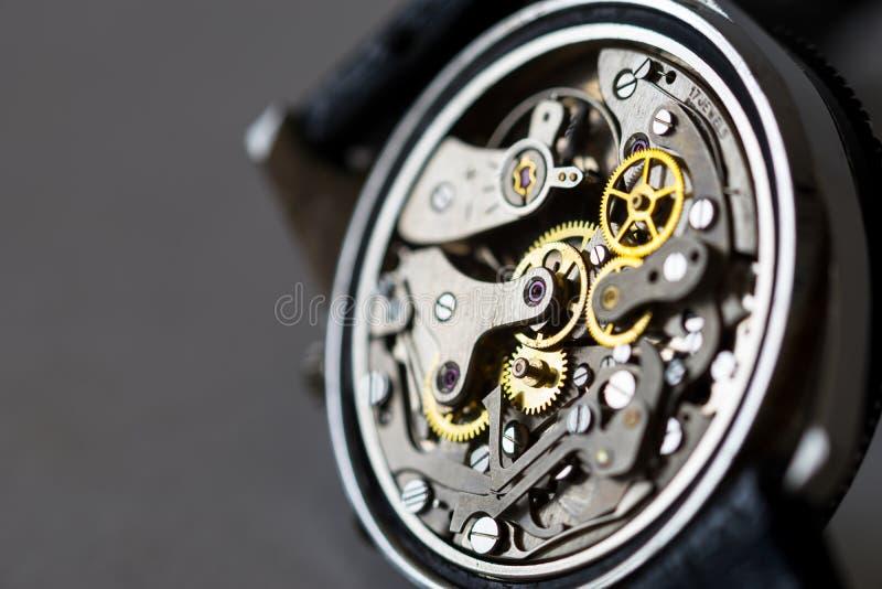 Uitstekende mechanische horlogedelen stock foto's