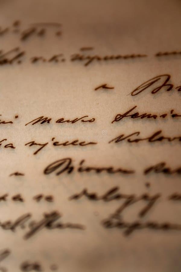 Uitstekende met de hand geschreven brief royalty-vrije stock foto
