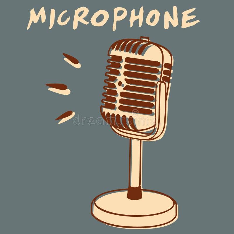 Uitstekende Microfoon vector illustratie