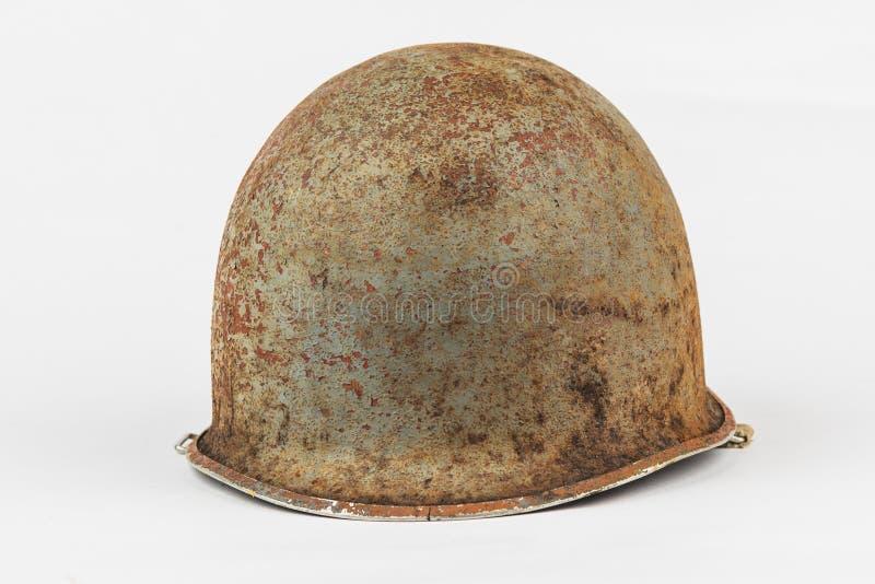 Uitstekende militaire helm stock afbeelding
