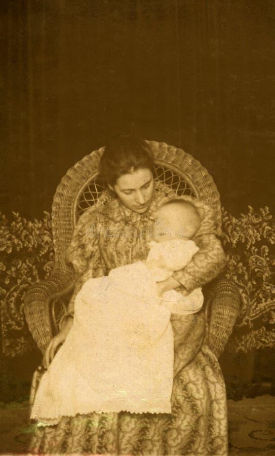 Uitstekende Moeder royalty-vrije stock fotografie