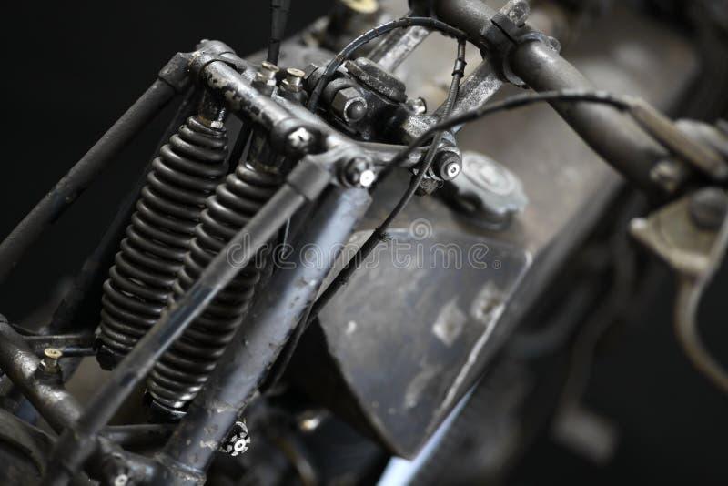Uitstekende motorfiets vooropschorting stock afbeeldingen