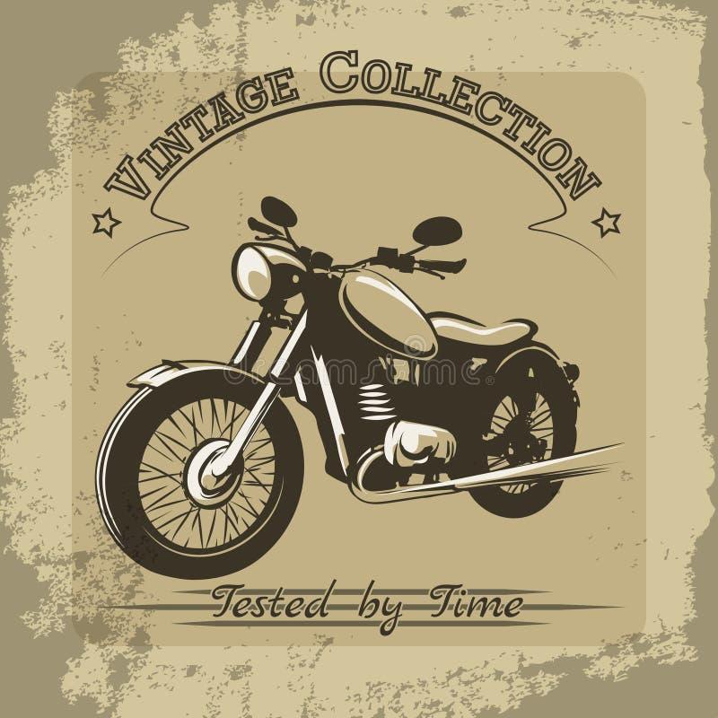 Uitstekende motorfietsaffiche stock illustratie