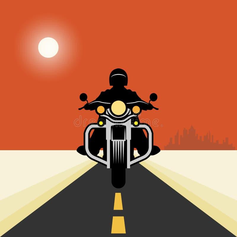Uitstekende motorfietsaffiche royalty-vrije illustratie