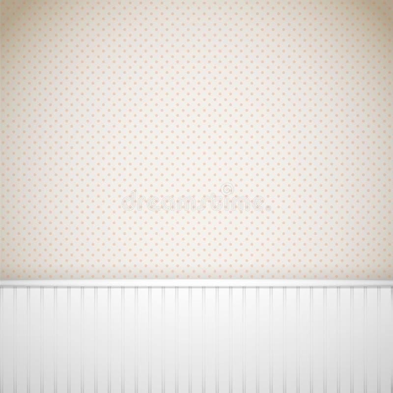 Uitstekende muur met houten panelen vector illustratie