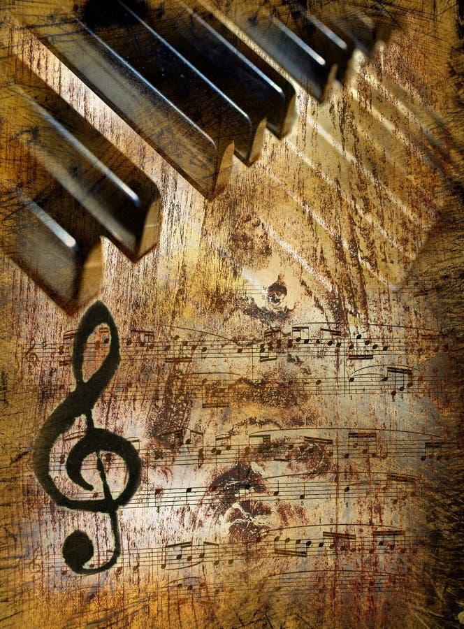 Uitstekende muziekachtergrond royalty-vrije stock fotografie