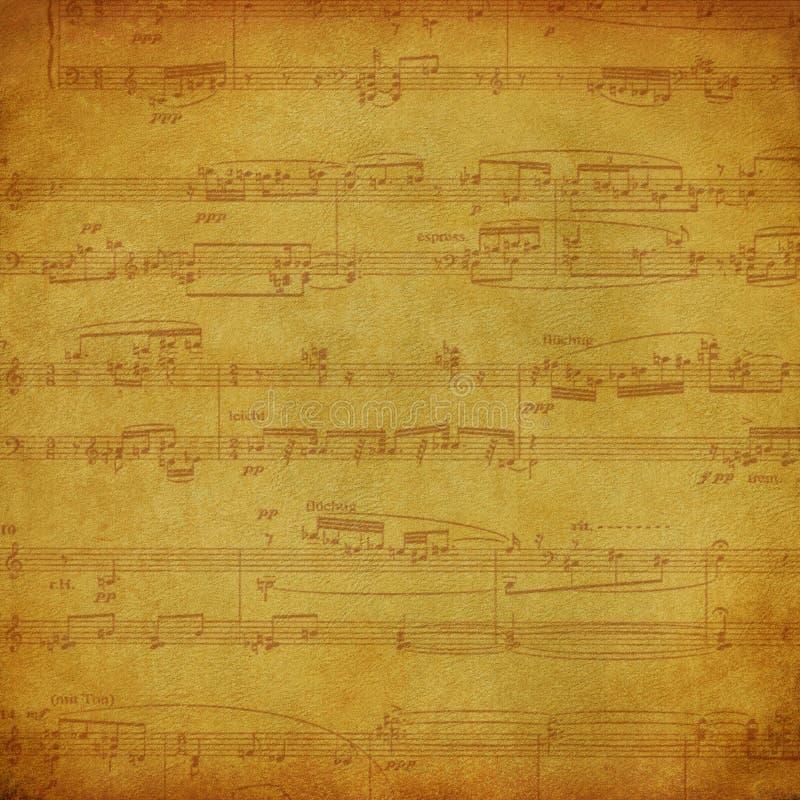 Uitstekende muziekachtergrond stock illustratie