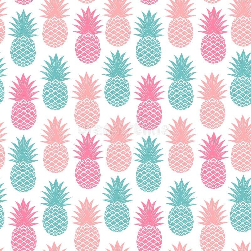 Uitstekende naadloze ananas royalty-vrije illustratie