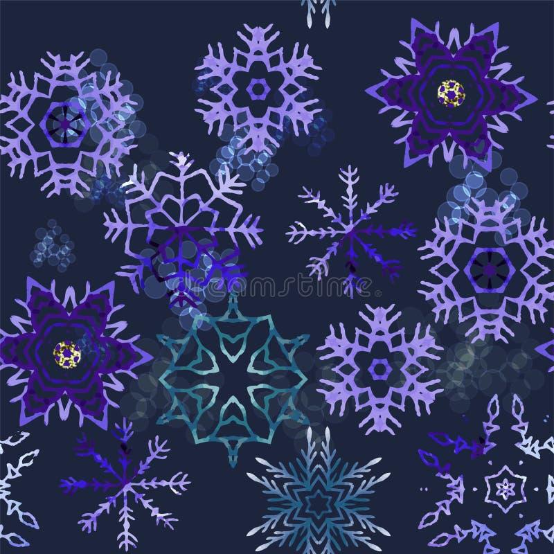 Uitstekende naadloze het patroonachtergrond van Kerstmiselementen vector illustratie