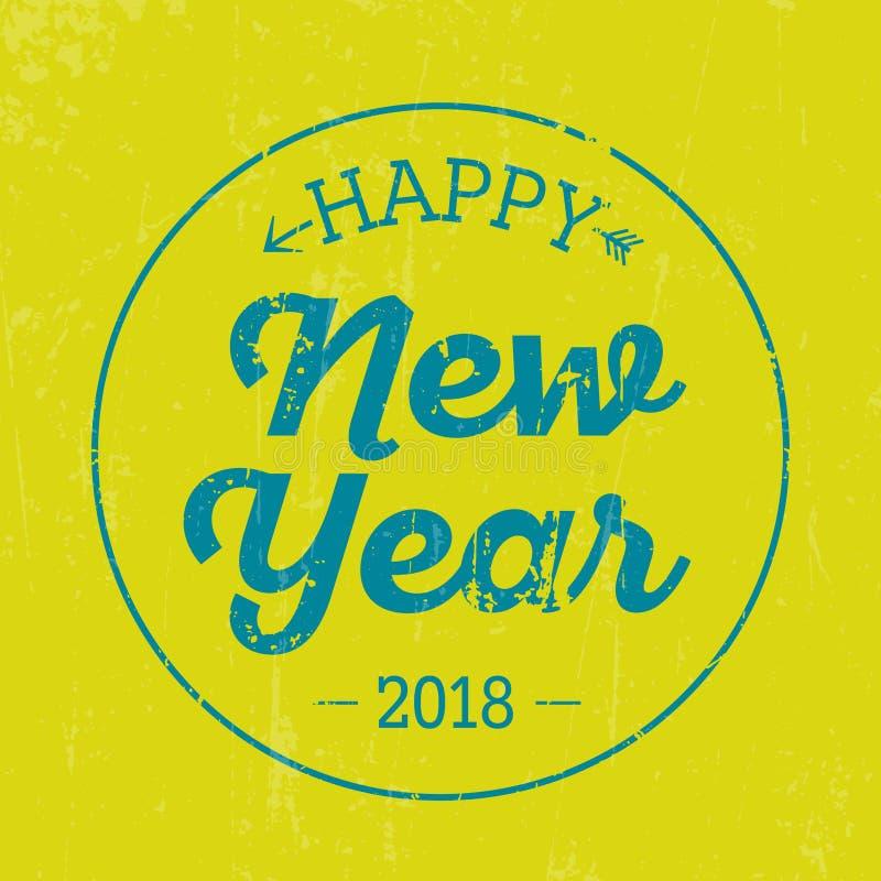 Uitstekende Nieuwjaar Typografische Achtergrond stock afbeeldingen