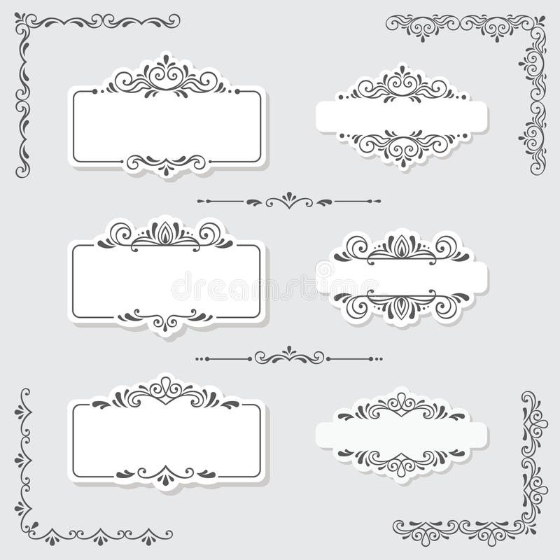 Uitstekende ontwerpelementen royalty-vrije illustratie