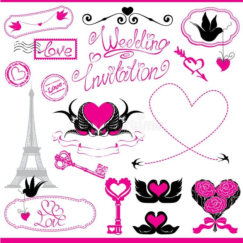Uitstekende ornamenten, kalligrafische ontwerpelementen vector illustratie