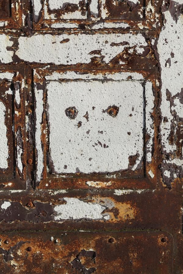 Uitstekende oude beschadigde deur stock foto's