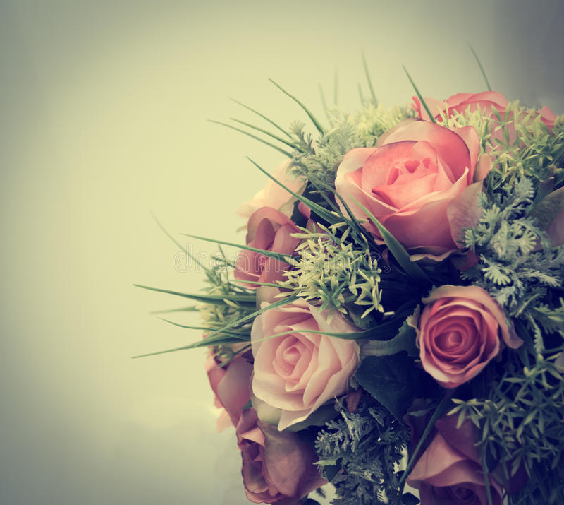 Uitstekende oude bloemachtergronden stock foto