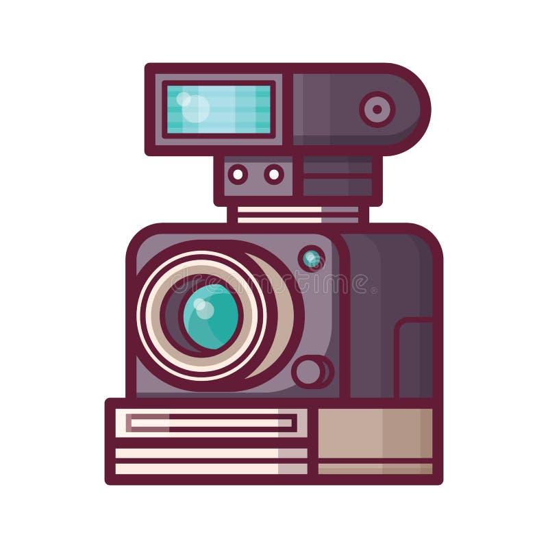 Uitstekende Oude Camera met Flits vector illustratie