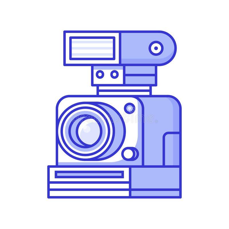 Uitstekende Oude Camera met Flits stock illustratie