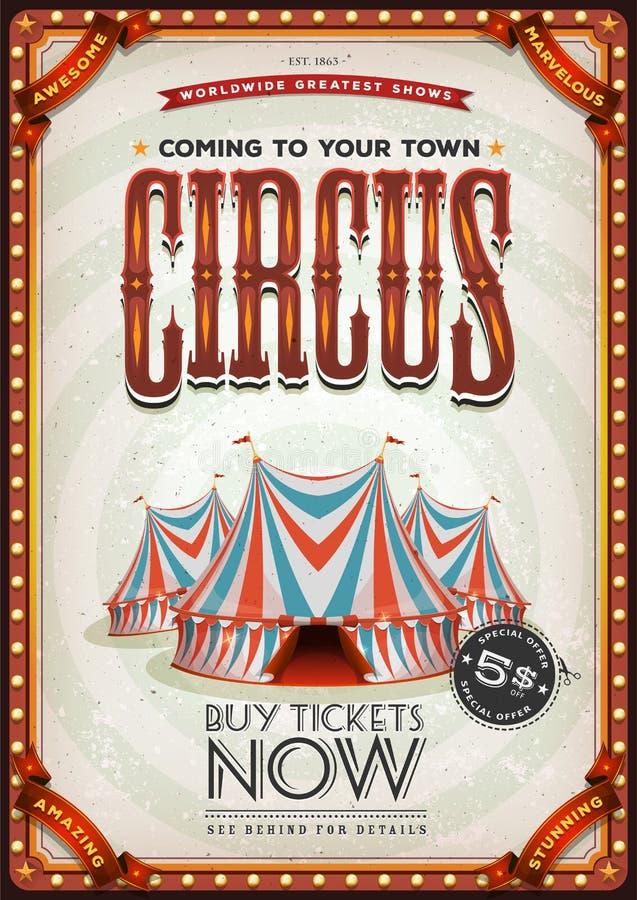 Uitstekende Oude Circusaffiche vector illustratie