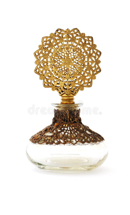 Uitstekende parfumfles royalty-vrije stock afbeelding