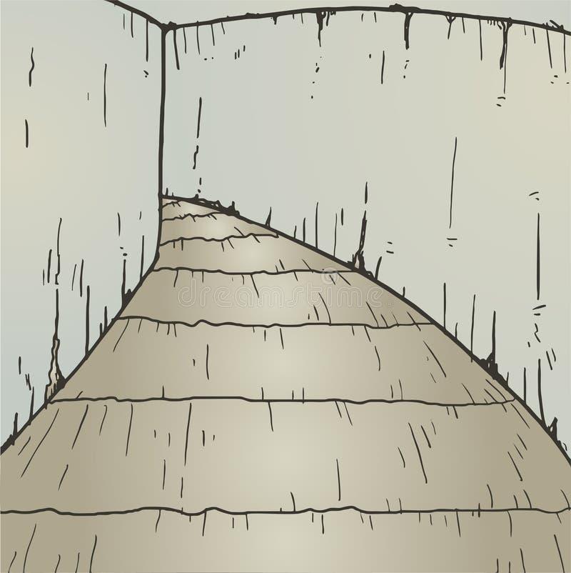 Uitstekende passage vector illustratie