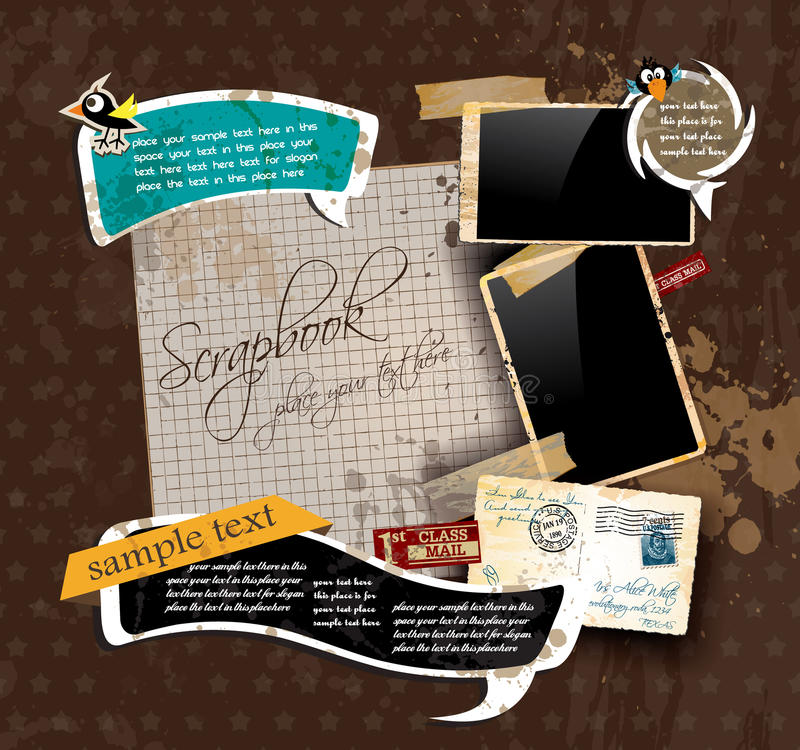Uitstekende plakboeksamenstelling royalty-vrije illustratie