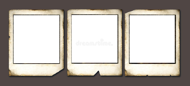 Uitstekende Polaroid- frames royalty-vrije illustratie