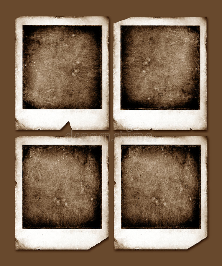 Uitstekende Polaroid- frames vector illustratie