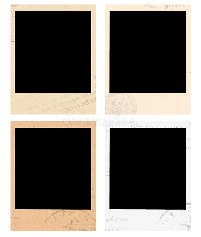 Uitstekende polaroidframes vector illustratie