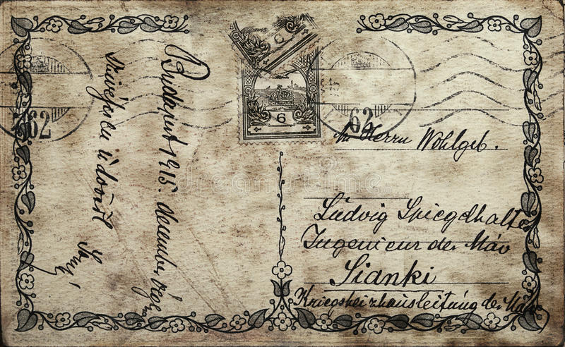 Uitstekende prentbriefkaar royalty-vrije stock foto